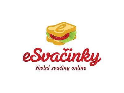 School Food Logo Wip school food logo brand type caligraphic lettering typographic sandwich salad tomato