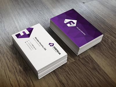 Business card - Fortelia branding branding businesscard business card logo logotype clean retangle shape corporate identity