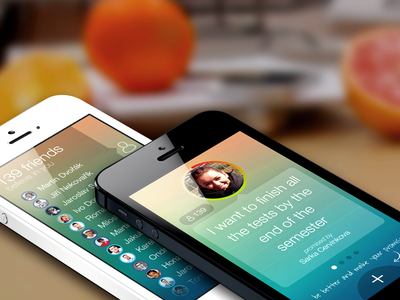 Promishare app WIP ios app mockup screen flat share promise