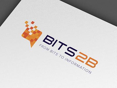 BITS2B logo business intelligence logo design brand identity bubble speech bits