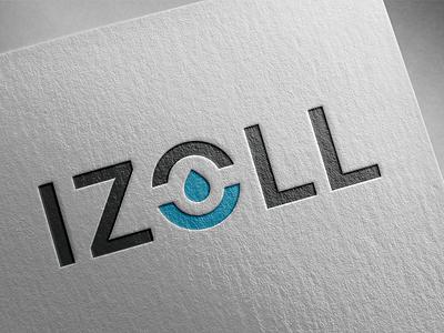 Izoll logo logo design concept wip brand drop water minimal