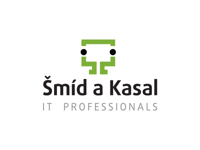 Logo for small IT company logo it monitor lcd persons professionals screen