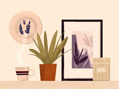IKEA //gift card// gift card gift print cozy kitchen plants ikea decorate decor home design illustration