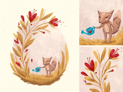 Love / Illustration for Children Hospice kids plants childrens book animals love character design drawing illustraion