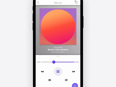 Daily UI Day009 Music Player
