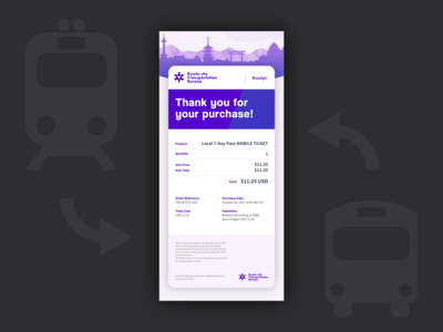 Daily UI #017 Email Receipt