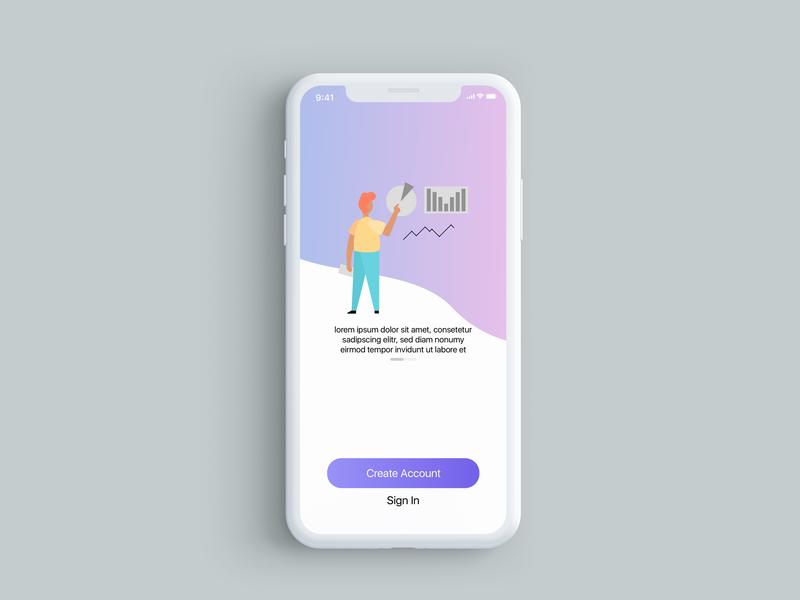 Daily UI Challenge #1 (Screen 1) minimal illustration flat app ux design ui