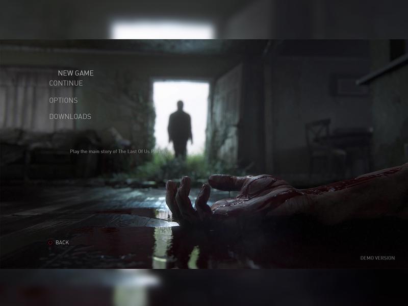 The Last Of Us Part II UI Demo (Screen 2) playstation gamedesign game design ux ui