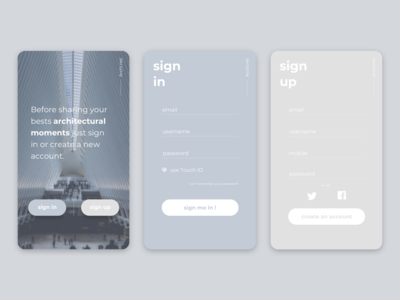 Sign Up || UI Design