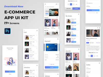 E-Commerce App Ui kit mobile ui ux mobile app mobile app design mobile design ui design app ui mobile ui ui ux ui ui kit e commerce app