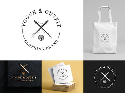Vogue & Outfit icon vector illustration typography branding design brand identity brand design stitching logo cloth logo clothing logos logotype logodesign branding logo
