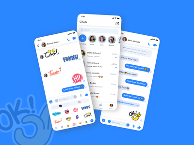 Messaging App Design ui  ux design pastel style clean ui stickers typography video call texture message app chatbot minimal app messenger memoji emoji dailyui clean chatting chat call app design chat app