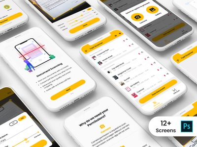 Document Scanner App UI Kit android ios fast scan fast document ocr ocr scan qr scan scan scan document pdf pdf generator reader app document scanner visual architecture mobileux mobileui ux ui app