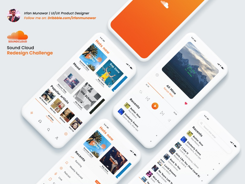 Sound Cloud App Redesign rapper soundcloudrapper love android ios applemusic beats artist rap spotify music hiphop soundcloud mobileui ui  ux design uidesign design ux app ui