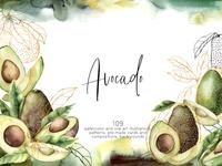 Avocado. Graphic collection