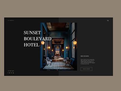 Sunset Boulevard Hotel Concept minimal website design vector icon web typography adobe xd ux design uidesign branding concept branding adobe illustrator adobe photoshop