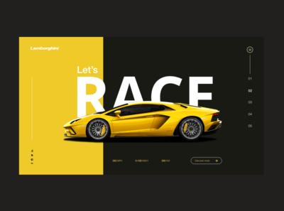 Lamborghini landing page concept