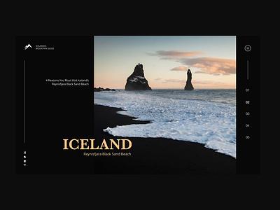 Black Beaches of Iceland clean design ui design web ux design adobe xd minimal branding branding concept adobe photoshop adobe illustrator