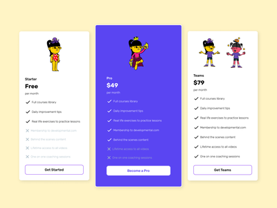 Pricing page pablostanley figma auto-layout autolayout design ui uidesign pricing plan plans pricing pricing page
