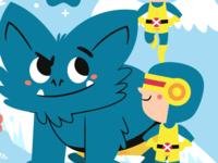 Tiny X-Men adobe illustrator character design comics marvel childrens book kidlitart kidlitillustration kidlitartist illustration vector