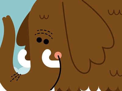 Mammoth Stroll snow winter northpole igloo mammoth eskimo flatdesign kidlitillustration adobe illustrator kidlit kidlitartist kidlitart illustration vector