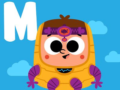 M is for Modok vector kidlitillustration kidlitartist kidlitart kidlit comics marvel modok