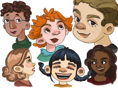 a few emotions artist girl sketch artwork character illustration art illustration drawing artist art  entertainment art