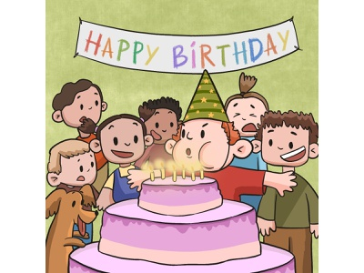birthday procreateart procreate character illustration art illustration art drawing artist art  entertainment