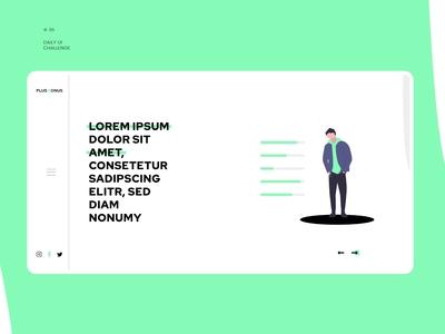 Plus bonus website header design