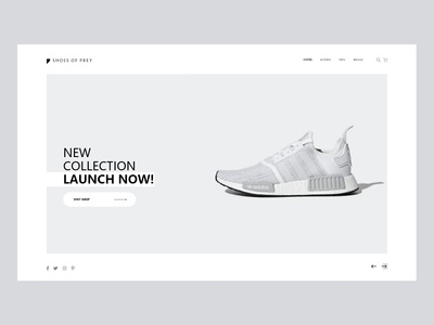 Shoes of prey Web page Concept