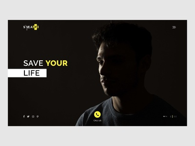 Save a life web page design concept