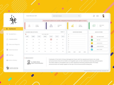 Campus Management System Dashboard Design
