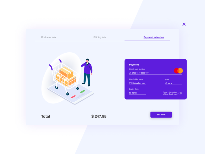 Credit card checkout | Daily UI 2 interface beauty web design ui design ux ui card credit card checkout daily ui 002 dailyui