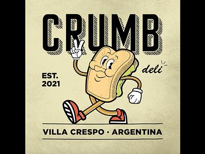 crumb logo + color graphic design minimal icon vector typography illustrator illustration design branding art logo