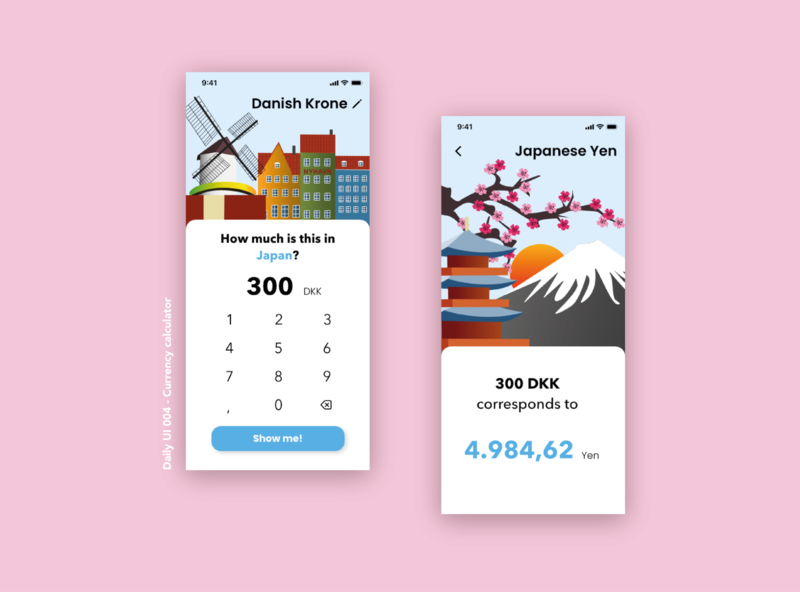 Daily UI 004 - Calculator illustration app ui adobe xd userinterface dailyui 004 dailyui