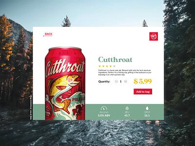 Daily UI - E-Commerce shop cutthroat beer e-commerce shop dailyui012 dailyuichallenge figma ui dailyui