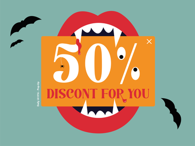 Daily UI 016 - Pop-Up halloween scary illustrator design dailyuichallenge illustration dailyui