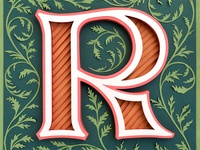 R is for Rabbit's Foot Fern