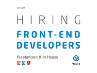 Hiring front-end developers, freelance, in-house