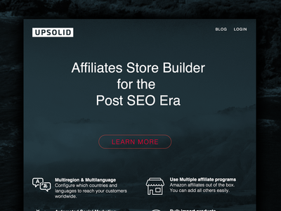 Upsolid Home website home