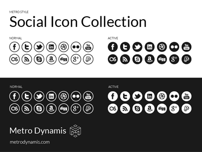 Metro Style Social Icons metro metro style dynamis style framework icon icons collection user experience ux coming soon phone mobile iphone web desktop