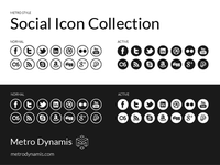 Metro Style Social Icons