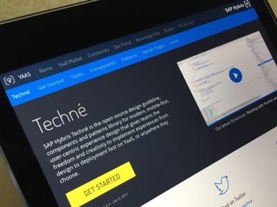 Techné Home home open source library ux ui