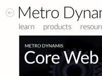 Metro Dynamis website redesign