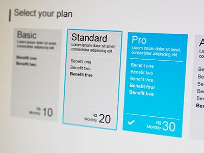 Plans lupando metro plan pricing selector cards