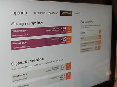 Competitors lupando business intelligence web ui ux metro