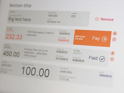 List Elements metro minimalist invoice money