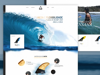 Haifins landing ecommerce wet website surf