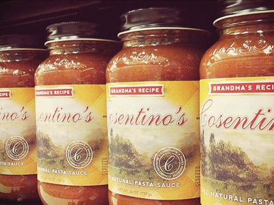 Cosentino's // Pasta Sauce Labels packaging branding graphic design