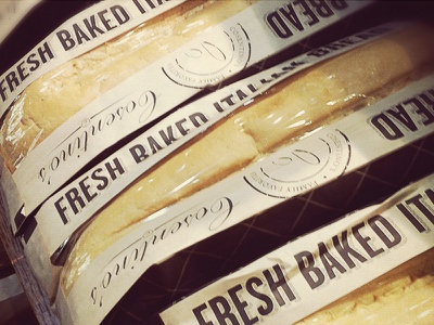 Cosentino's // Bread Bags packaging branding graphic design